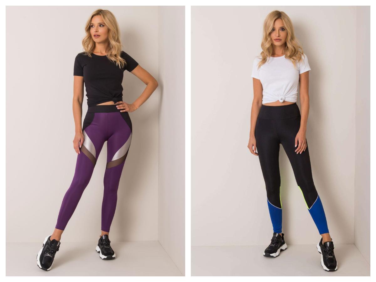 Damskie legginsy do biegania w kolorze czarnym